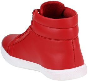 VO Synthetic Leather Boot Shoes For Men's And Boys Red
