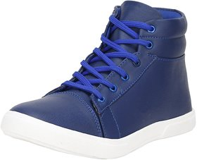 VO Synthetic Leather Boot Shoes For Men's And Boys Blue