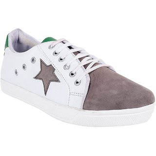 Vanni Obsession Men's Gray and White Lace-up Smart Casual Shoes