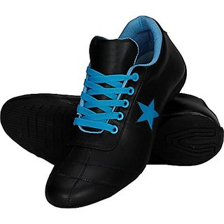 Vanni Obsession Lace-up's Black and Blue and Multicolor  Men Shoes