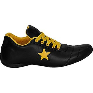 Vanni Obsession Lace-up's Black and Multicolor and Yellow  Men Shoes