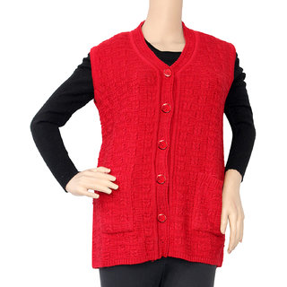 022bc42a0de Buy Matelco Pure Wool Red Buttoned Cardigans Online - Get 30% Off