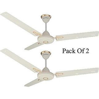 Candes Super Star 1200mm Copper Ceiling Fan 48 Inch Ivory Pack of 2 (100% Copper Winding with 2 Year warranty 5 Star Rating)