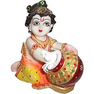 Marble Choki With Makhan Chor Home DecorMarble HandicraftsMeenakari WorkHandworkHandpaintedMakranaSangemarmar