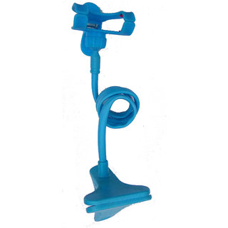 MOBILE HOLDER FOR BED AND TABLE BLUE COLOR.