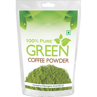 Health First Pure Organic Arabica Green Coffee Beans powder For Weight Management - 200Gm