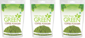 Health First Pure Organic Arabica Green Coffee Beans powder For Weight Management - 600Gm