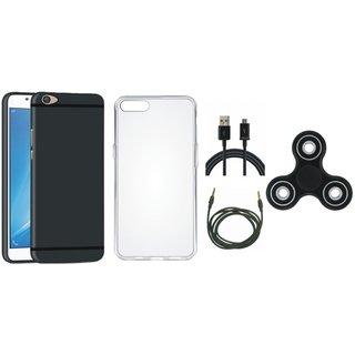 Redmi 5 Silicon Anti Slip Back Cover with Spinner, Silicon Back Cover, USB Cable and AUX Cable