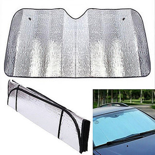 KunjZone Foldable Auto Front Rear Window Sun Shade Car Windshield Visor Cover Block.. Set of 1