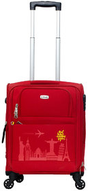 Timus Salsa Red 55 CM 4 Wheel Strolley Suitcase For Travel ( Cabin Luggage) Expandable  Cabin Luggage - 20 inch (Red)