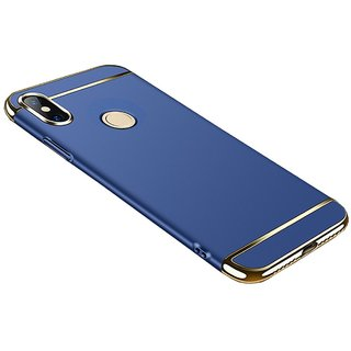 huge selection of e9a0d cb17d Redmi Note 5 Pro 3 in 1 Electroplated Shockproof Back Cover Case (BLUE )