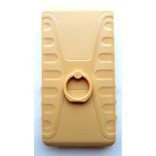 Universal Beige Color Vimkart mobile slider cover back case, guard, protector for 4 inch mobile Karboon