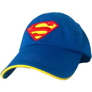 TyranT Superman 3D Embroidered Sky Blue Cotton Baseball Caps