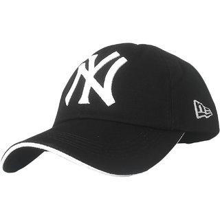 TyranT NY 3D Embroidered Black Cotton Baseball Caps