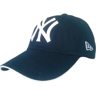 TyranT NY 3D Embroidered navy Cotton Baseball Caps