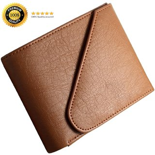 Insta New Tan Trifold Men's Wallet (Synthetic leather/Rexine)