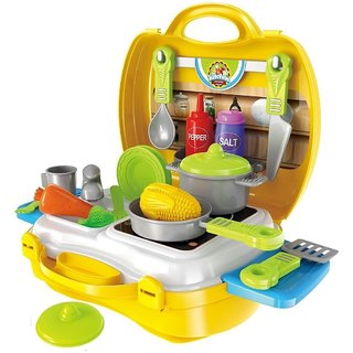 Smartcraft Ultimate Kid Chef Bring Along Kitchen Cooking Suitcase Set (26 Pieces)