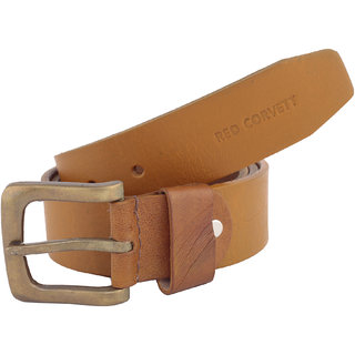 Red Corvett Tan Party Leather Belt