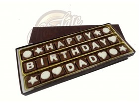 Birthday Chocolate Message for DAD/Father