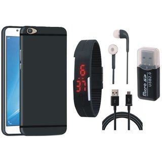 Samsung On7 Prime Soft Silicon Slim Fit Back Cover with Memory Card Reader, Digital Watch, Earphones and USB Cable