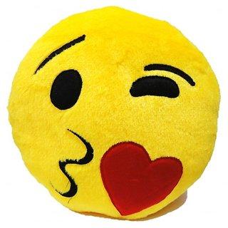 37cm Kissing Smiley Emoji Cushion Pillow Stuff Toy