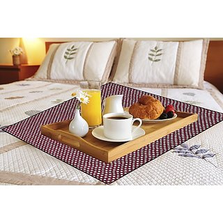 Glassiano Waterproof & Oilproof Square Bed Server Mat