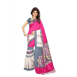 25157a367be630 Buy Indian Beauty Pink Art Silk Printed Saree With Blouse Online - Get 80%  Off