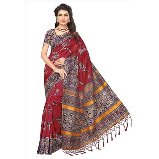 95fceaf6fb3 Buy Indian Beauty Women s Red Printed Art Silk Saree With Blouse Online -  Get 78% Off