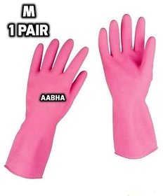 Aabha rubber gloves for kitchen / Household kitchen gloves / kitchen washing cleaning gloves /gloves for scrap cleaning