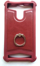 Universal Brown Color Vimkart mobile back cover case, guard, protector for 4 inch mobile JOSH