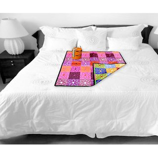 The Intellect Bazaar Waterproof PVC Bed Server Food Mat (36X36 inches), Multi