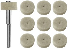 20 pcs 1/2 Felt Wool Polishing Wheels with Mandrel - Fits Dremel DIY Crafts