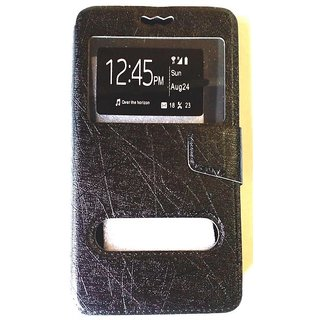 Vimkart High Quality Flip Cover Mobile Case Cover Synthatic Leather for Micromax E455