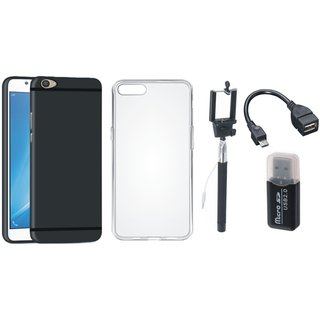Samsung J7 Prime Stylish Back Cover with Memory Card Reader, Silicon Back Cover, Selfie Stick and OTG Cable