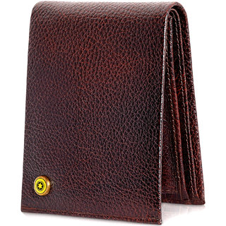 122ea6668879 POLLSTAR Bifold Wallet for Men with Flip ID Window from Genuine Leather  RFID Blocking technology (