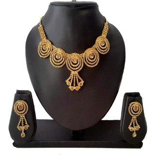 Gold Plated Diamond Designer Jewellery Set