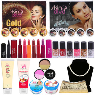 Hot  Glamours Looks Style Care Combo Make-Up Set of 22 GC565-By Adbeni