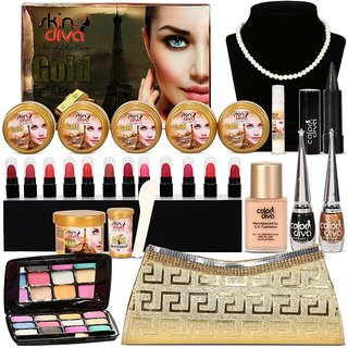 Stay Gorgeous- Facial and Makeup Combo Set of 21 GC566-By Adbeni