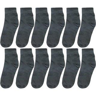 Neska Moda Men Cotton Black 12 Pair Ankle Length Socks
