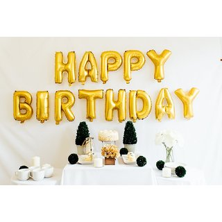 Smartcraft Happy Birthday Alphabet Letter Foil Balloons- Gold Birthday Party Supplies Happy Birthday Balloons for Part