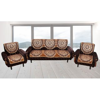 Premium furnishing pure velvet 5 seater sofa cover (pf scssc002)