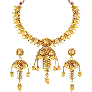 331ee96849ffb Buy Asmitta Designer Gold Plated Lct Stone Copper Necklace Set For Women  Online - Get 70% Off