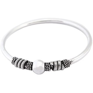 La Belle Vie (LBV) 925 Oxidized Sterling Silver Bangle Bracelet For Women/Girls