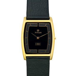 Titan Quartz Black Dial Mens Watch-1044YL08
