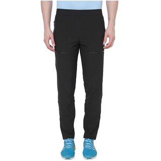 Adidas Black Polyester Lycra Trackpant