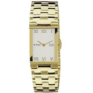 Titan Quartz White Dial Mens Watch-1296YM02