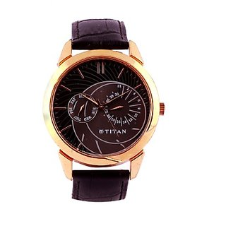 Titan Quartz Brown Dial Mens Watch-1509WL02