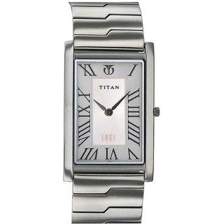 Titan Quartz Silver Rectangle Men Watch 1515sm01