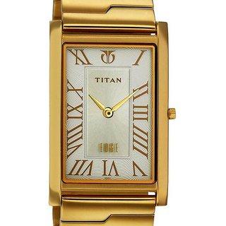 Titan Quartz White Dial Mens Watch-1515YM01