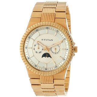 Titan Quartz Gold Round Men Watch 1532ym02